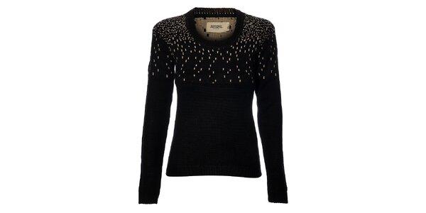 Dámsky čierny sveter Eleven Paris so vzorom
