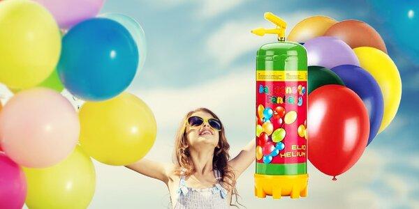 Héliová bomba 180 - 450 litrov aj s balónikmi a stužkou