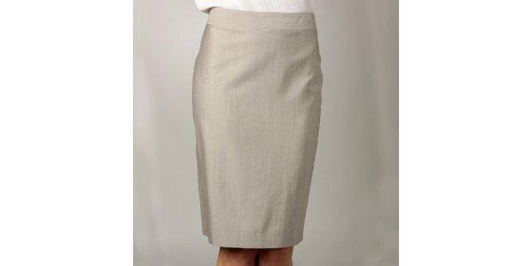 Dámska úzka béžová sukňa Caramelo