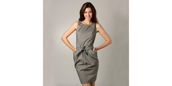 Dámske oceľové šedé šaty Caramelo