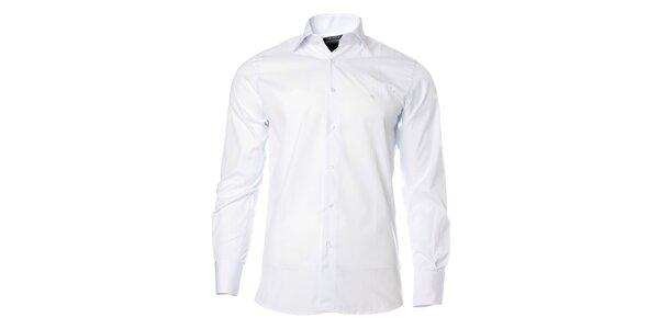 Pánska biela košeľa s dlhým rukávom Caramelo