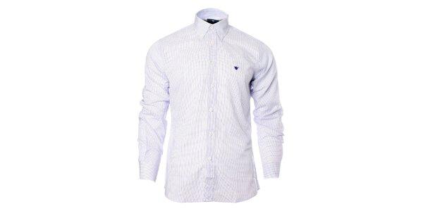 Pásnká fialovo-biela kockovaná košeľa Caramelo