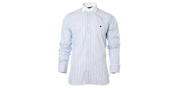 Pánska modro-biela prúžkovaná košeľa Caramelo