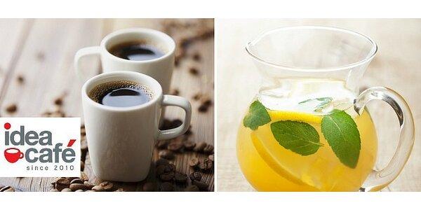 Káva s čerstvou citronádou pre dve osoby