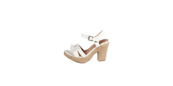 Dámske biele sandálky Drastik