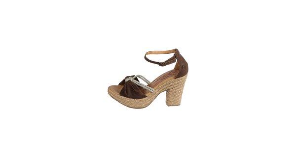 Dámske tmavo hnedé sandálky Drastik