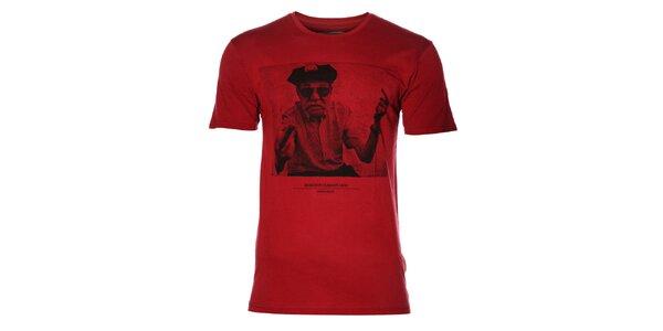 Pánske vínové tričko Eleven Paris s potlačou