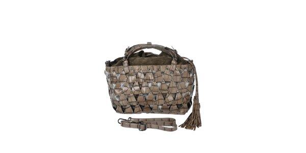 Dámska hnedo-šedá kabelka s efektným vzorom Marina Galanti