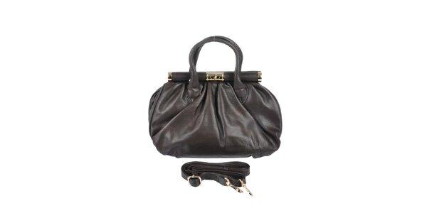 Dámska hnedá retro kabelka so zlatými prvkami Marina Galanti