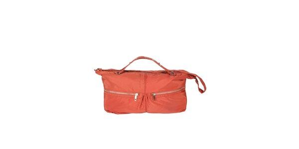 Dámska oranžová kabelka s dvomi zipsami Marina Galanti