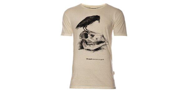 Pánske krémové tričko Eleven Paris s potlačou