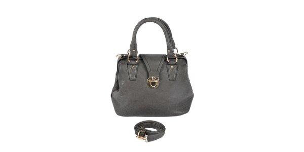 Dámska šedá kabelka so zlatými detailami Marina Galanti