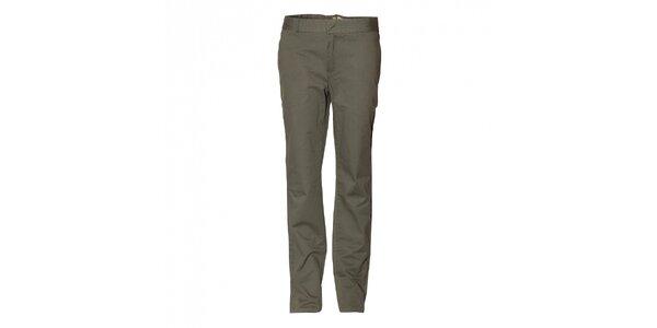 Pánske tmavo zelené chino nohavice Eleven Paris