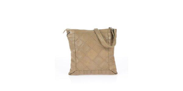 Dámska čierna kabelka so štvorcovým vzorom Marina Galanti