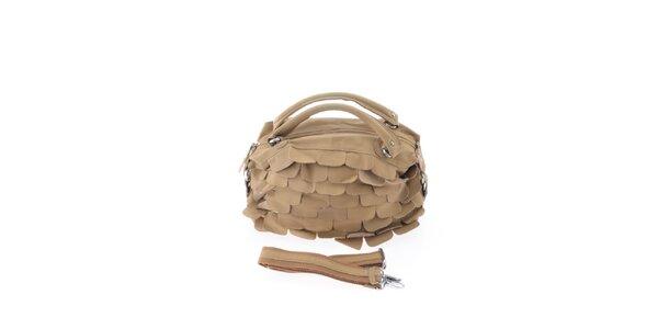 Dámska ťavia kožená kabelka so šupinkami Marina Galanti