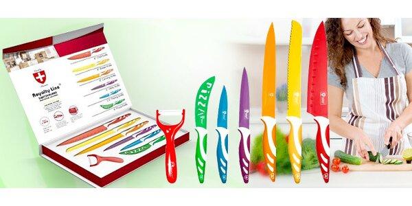 Sada oceľovo-keramických kuchynských nožov