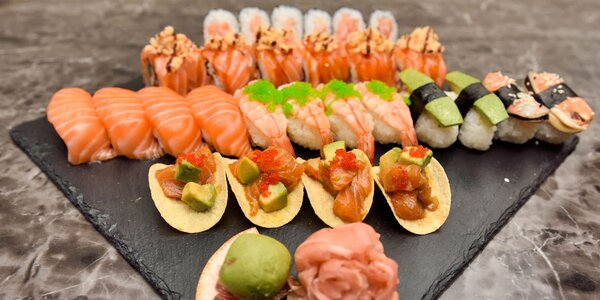 Sushi menu s polievkou a dezertom v Auparku