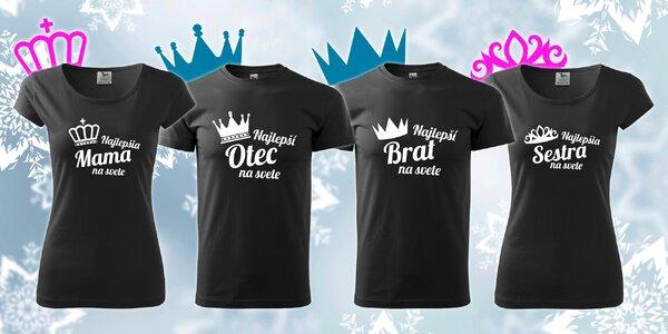 Vianočný darček! Bavlnené tričká pre najlepších členov rodiny