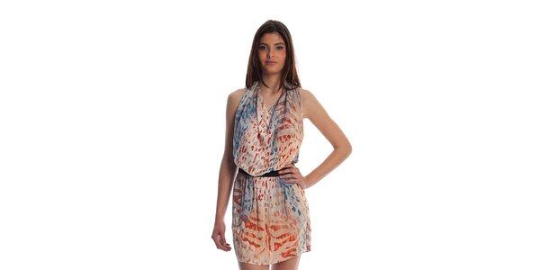 Dámske pestrofarebné šaty Cristian Lay so zvieracou potlačou