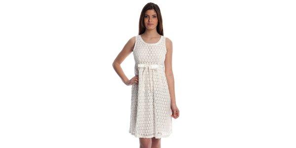 Dámske biele krajkové šaty Cristian Lay