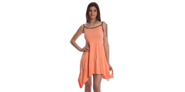 Dámske lososové úpletové šaty Cristian Lay
