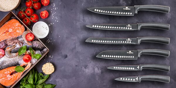 7-dielny set nožov s akrylovým stojanom