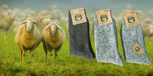 Ponožky z ovčej vlny! Pre dámy i pánov!