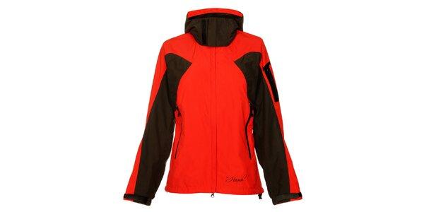 Dámska červeno-čierna športová bunda Hannah s membránou