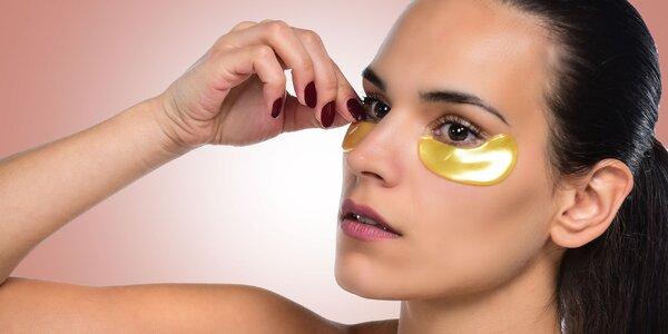 Kolagénová maska na oči proti vráskam s 24-karátovým zlatom a hydratačná…
