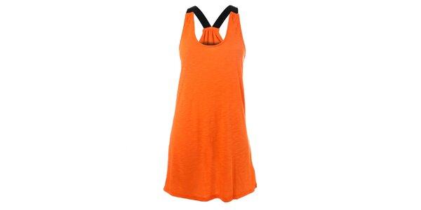 Dámske oranžové bavlnené šaty Santa Barbara