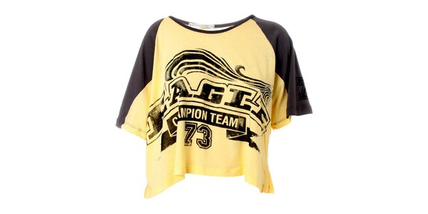 Dámske žlto-šedé tričko Santa Barbara s potlačou