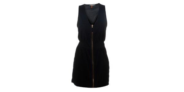 Dámske čierne šaty Santa Barbara so zipsom