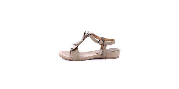 Dámske krémovo-béžové semišové sandálky Maria Mare