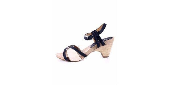 Dámske modro-krémové sandálky Maria Mare