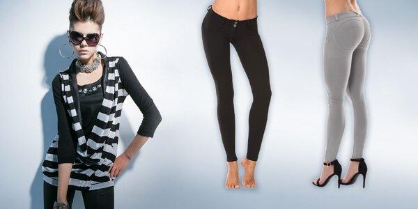 Elastické nohavice s Push Up efektom