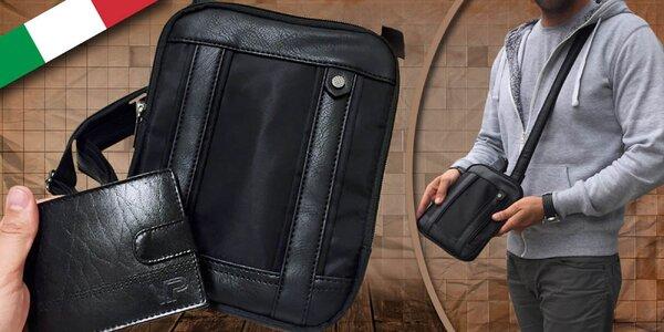 Pánsky set Grande Milano - kožená peňaženka a taška