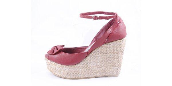 Dámske červené sandálky na platforme Maria Mare