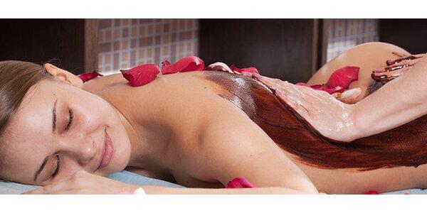 Masáž chrbta kakaovým maslom (30 min.)