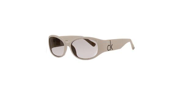 Dámske krémové slnečné okuliare Calvin Klein