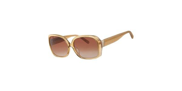 Dámske jantárovo zlaté slnečné okuliare Calvin Klein