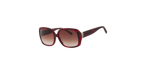 Dámske rubínovo červené slnečné okuliare Calvin Klein