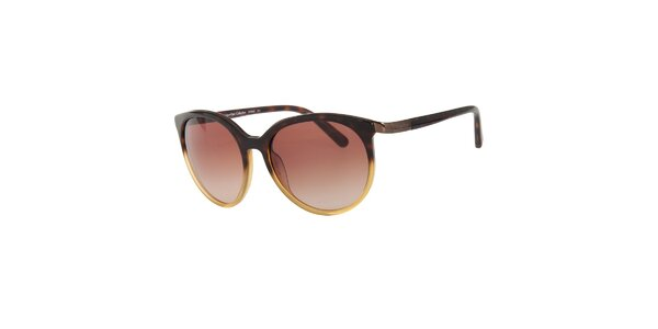 Dámske hnedo-zlaté slnečné okuliare Calvin Klein