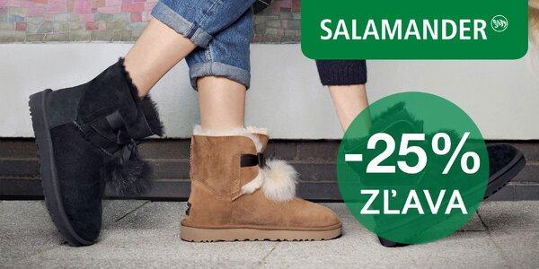 25% zľava na obuv a kabelky zo Salamander
