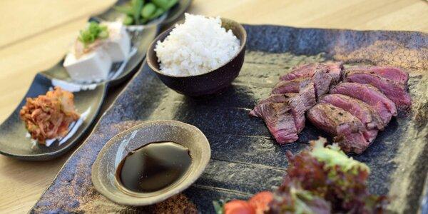 Japonský Wagyu steak s tradičnými predjedlami
