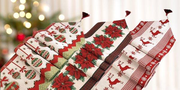 Vianočný behúň na stôl