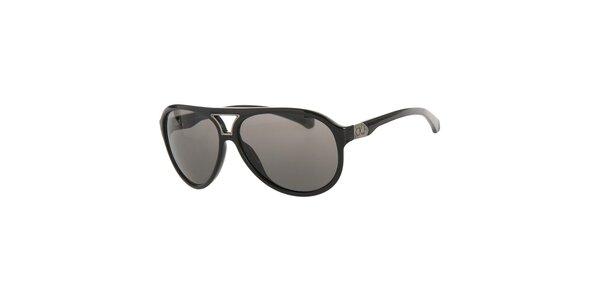 Pánske čierne slnečné okuliare Calvin Klein s tmavými sklami