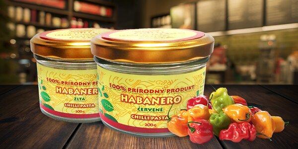Pasta z mletých chilli papričiek odrody Habanero