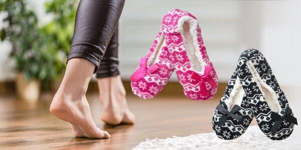 Dámske a detské balerínkové papuče
