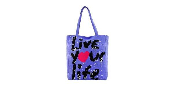 Dámska indigová textilná taška Matt&Desy s potlačou