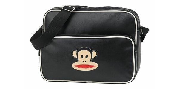 Čierna taška na notebook s opičkou Paul Frank